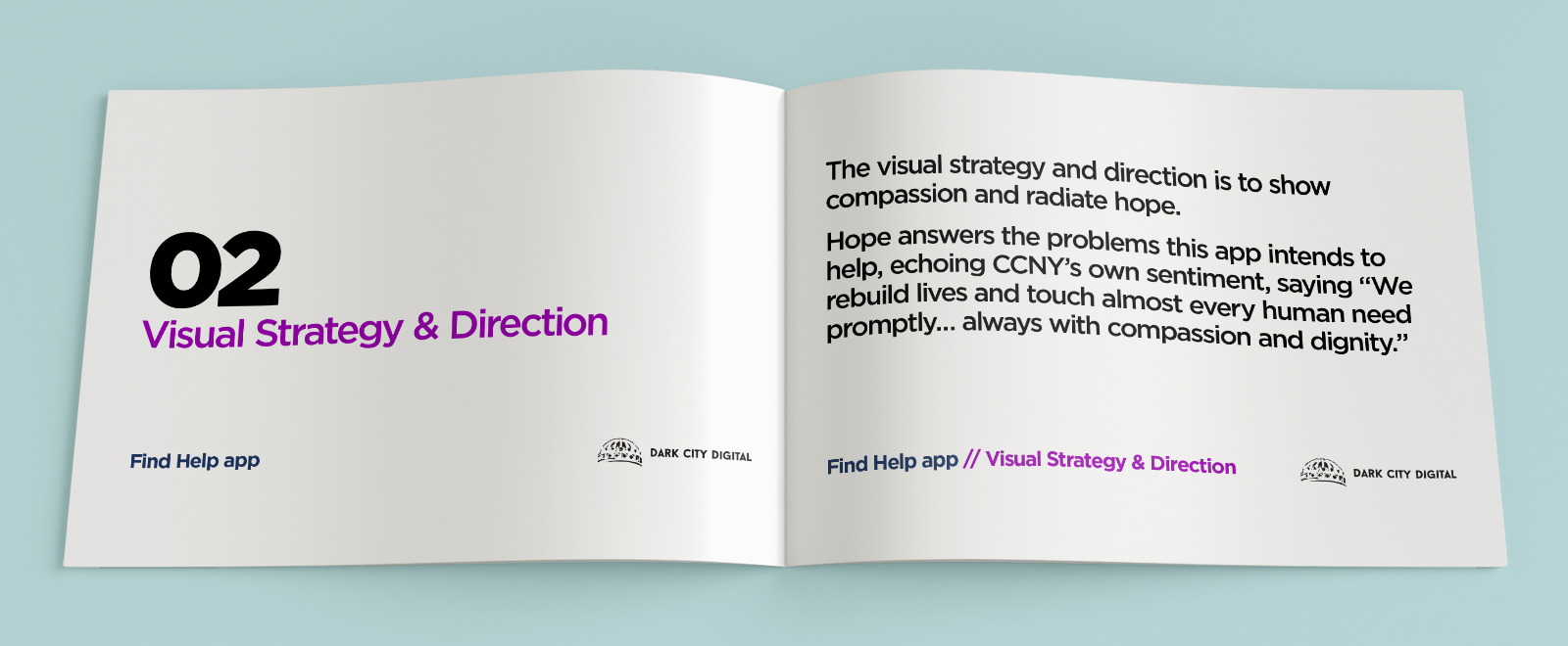 Catholic Charities Find Help Campaign Visual Strategy