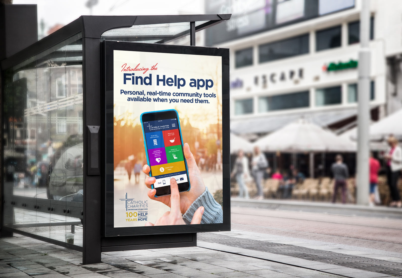 Catholic Charities Find Help Poster