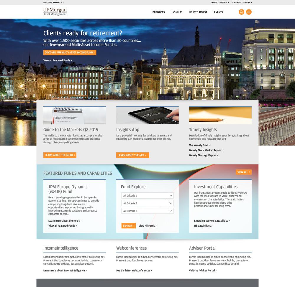 JPM Home Page British