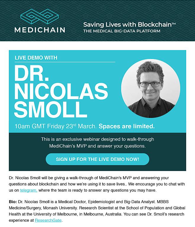 MediChain Email Design