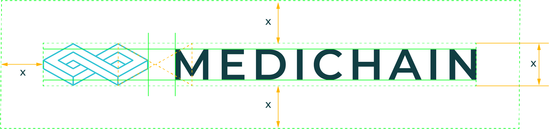 MediChain Logo Stacked Positioning