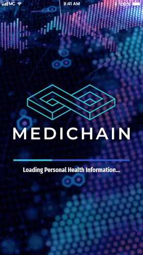 MediChain MVP Launch Screen