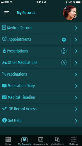 MediChain MVP Records Screen