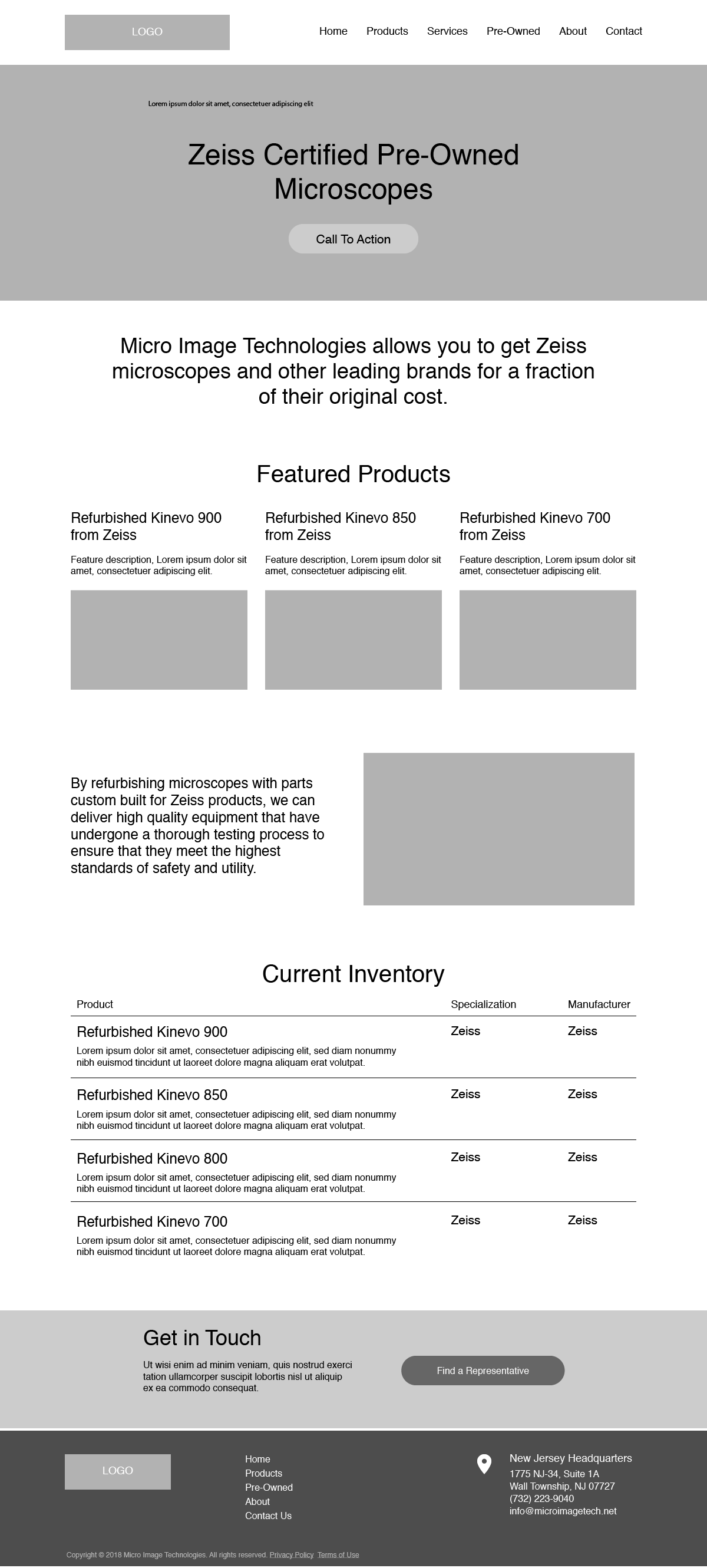 Micro Image Wireframes