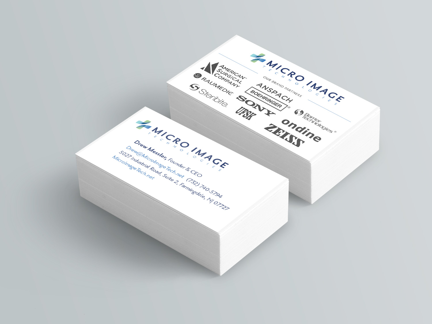 Micro Image Stacked Business Cards