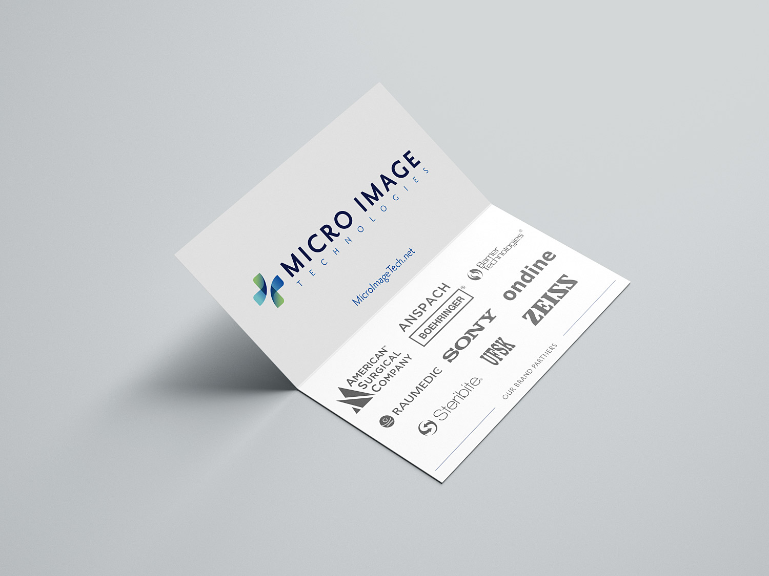 Micro Image Folded Business Cards