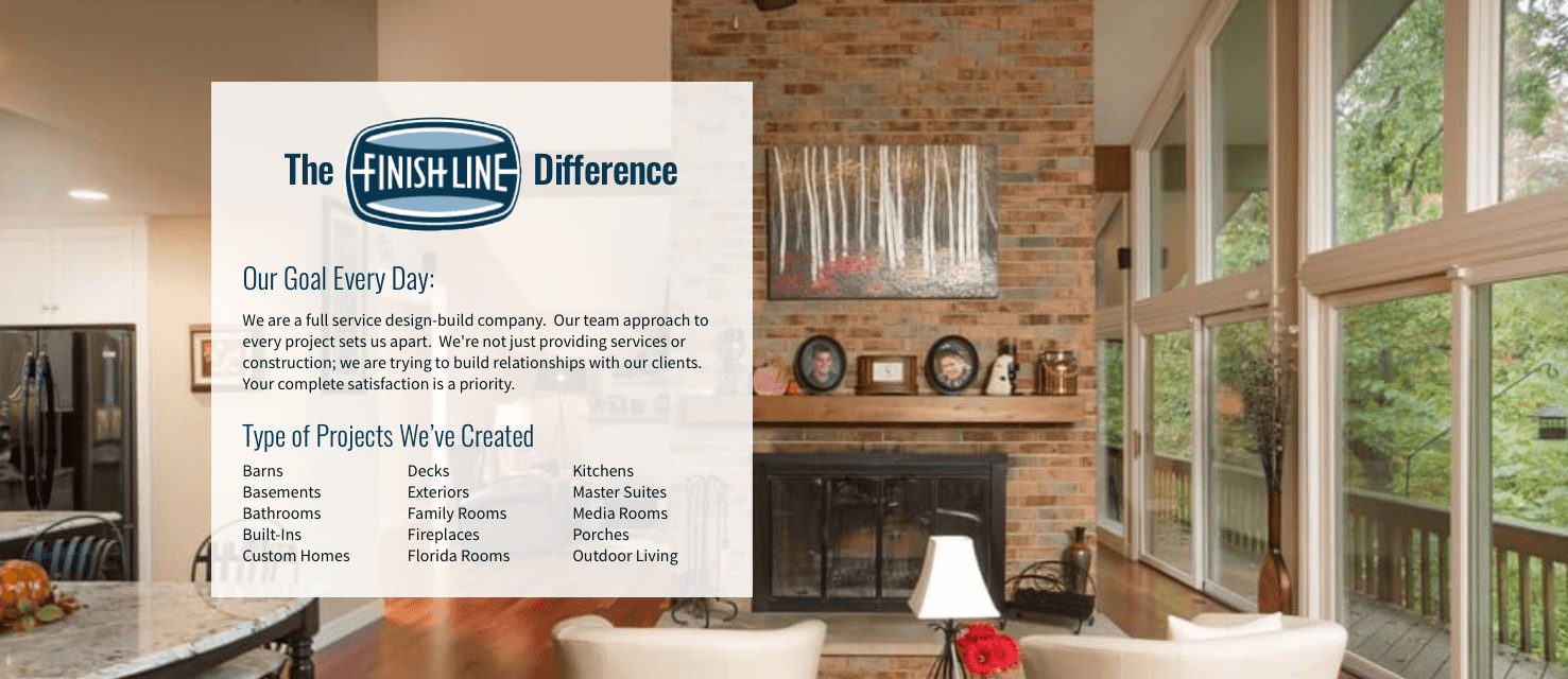 FinishLineBuilding Difference